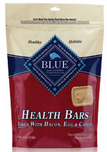 Blue Buffalo Health Bars Baked with Bacon Egg and Cheese