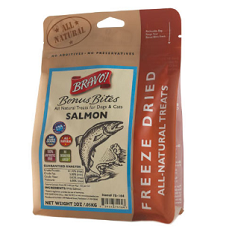 Bravo Bonus Bites Freeze Dried Salmon Dog Treats