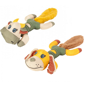Chomper Naturals Tail Waggers Bone Plush Tails Assorted