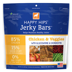 Dogswell Happy Hips Jerky Bars Chicken and Veggies