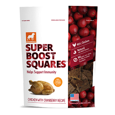Dogswell Super Boost Squares Chicken with Cranberry