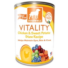 Dogswell Vitality Chicken and Sweet Potato Dog Food Cans