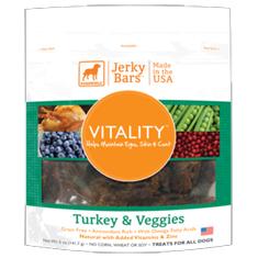 Dogswell Vitality Turkey and Veggies Jerky Bars