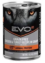 EVO 95 Chicken and Turkey Canned Dog Food