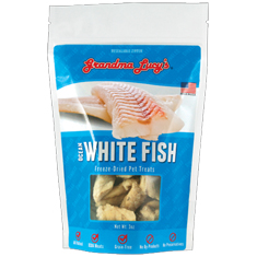 Grandma Lucys Singles Freeze Dried Ocean White Fish Treats