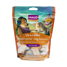 Halo Liv-A-Little Healthsome Peanut N Pumpkin Dog Biscuits