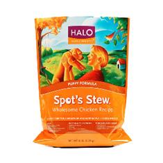 Halo Puppy Spots Stew Wholesome Chicken Recipe