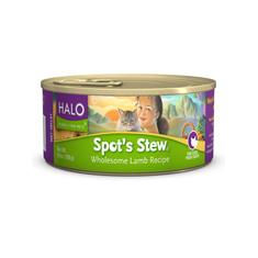Halo Spots Stew for Cats Wholesome Lamb Cans