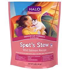 Halo Spots Stew for Indoor Cat Wild Salmon