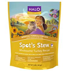 Halo Spots Stew Sensitive Cat Wholesome Turkey