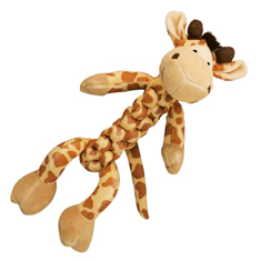Kong Braidz Safari Giraffe Dog Toy
