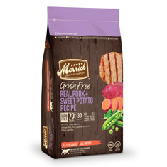 Merrick Grain Free Real Pork and Sweet Potato Dry Recipe