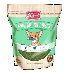 Merrick Mini Brush Dental Bone All Life Stages Chews