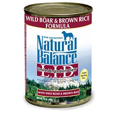 Natural Balance LID Wild Boar and Brown Rice Can
