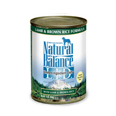 Natural Balance Limited Ingredient Lamb Brown Rice Can