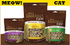 Natures Variety Instinct Freeze Dried Raw Chicken Cat Food