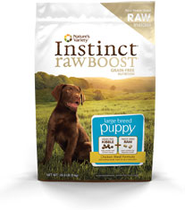 Natures Variety Instinct Raw Boost Grain Free Chicken Meal Large Breed Puppy