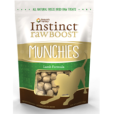 Natures Variety Instinct Raw Boost Munchies Lamb Freeze Dried