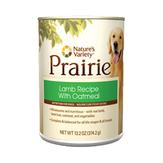 Natures Variety Prairie Lamb Meal and Oatmeal Cans