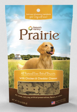 Natures Variety Prarie All Natural Oven Baked Biscuits With Chicken and Cheddar Cheese