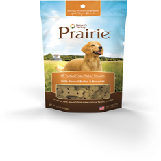 Natures Variety Prarie All Natural Oven Baked Biscuits With Peanut Butter and Bananas