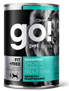 Petcurean GO! FIT and FREE Grain Free Chicken Turkey Trout Stew Recipe