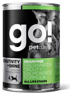 Petcurean GO! SENSITIVITY SHINE Grain Free Freshwater Trout Salmon Pate Recipe