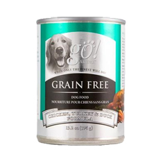 Petcurean GO Natural Grain Free Chicken Turkey and Duck Cans