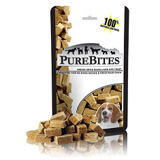 PureBites Bison Liver Freeze Dried Dog Treat