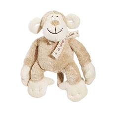 Simply Fido Oscar Monkey Organic Dog Toy