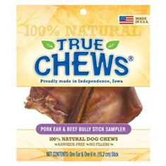 True Chews Pig Ear and Beef Bully Stick Sampler