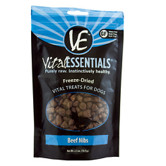 Vital Essentials Vital Beef Nibs Freeze Dried Dog Treats