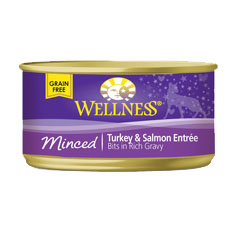 Wellness Cat Canned Minced Turkey and Salmon Recipe