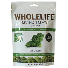 Whole Life Living Treats for Dogs Go Green with Kale