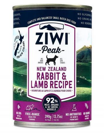 ZiwiPeak Rabbit and Lamb Dog Cans