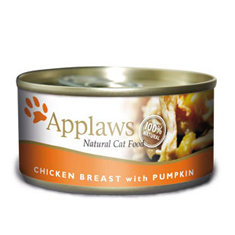 APPLAWS Chicken Breast with Pumpkin Cat Cans