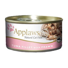 APPLAWS Tuna Fillet with Prawn Cat Cans