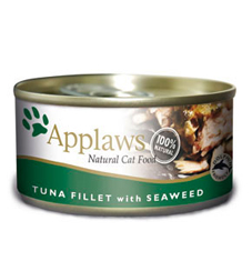 APPLAWS Tuna Fillet with Seaweed Cat Cans