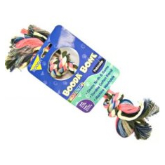 Booda Bone Multicolor Two Knot Rope Toy