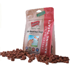 Bravo Freeze Dried All Beef Hot Dog Training Treats