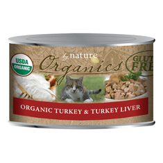 By Nature Organic Turkey and Turkey Liver Cat Cans