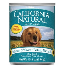 California Natural Salmon and Sweet Potato Canned Dog Food