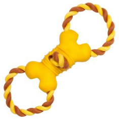 Chomper Naturals Tail Waggers Bone Double Rope Ring Tug
