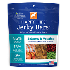 Dogswell Happy Hips Jerky Bars Salmon and Veggies