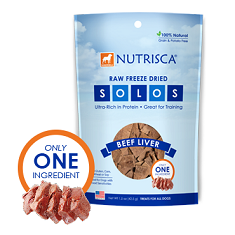 Dogswell Nutrisca Raw Freeze Dried SOLOS Beef Liver