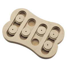 Ethical Pet Seek a Treat Shuffle Bone Puzzle Dog Toy