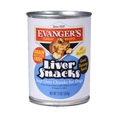 Evangers Classic Recipe Liver Snacks Canned