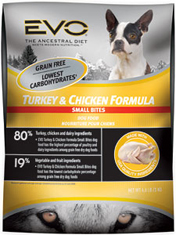 EVO Small Bites Turkey and Chicken Dog Food