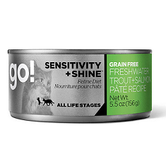 GO Sensitivity and Shine Grain Free Freshwater Trout and Salmon Pate