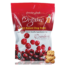 Grandma Lucys Cranberry Organic Oven Baked Dog Treat